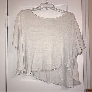 Unique High-Low Cross Cropped Top